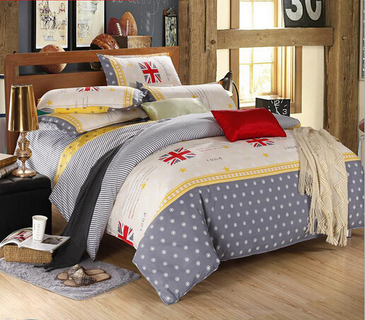 free shipping Promotions sanding bedding set 4pcs active printing bed set hello kitty bed sheet twin-queen duvet cover HA039B(China (Mainland))