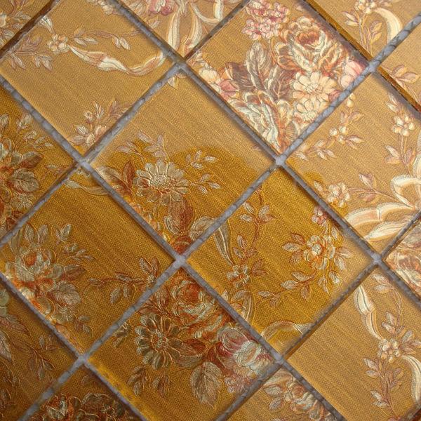 Groothandel glazen tegel backsplash patroon geel kristal moza ek baksteen keuken lh908 interieur - Tegel patroon badkamer ...