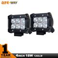 2PCS 4 INCH 18W LED LIGHT BAR SPOT FLOOD FOR OFF ROAD LED BAR IP67 OFF