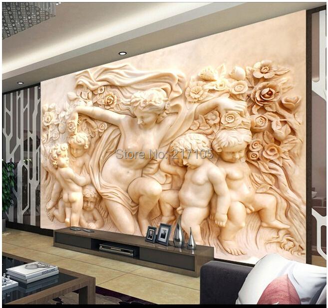 Custom retro wallpaper angel 3d stereoscopic wallpaper for 3d wallpaper for home india