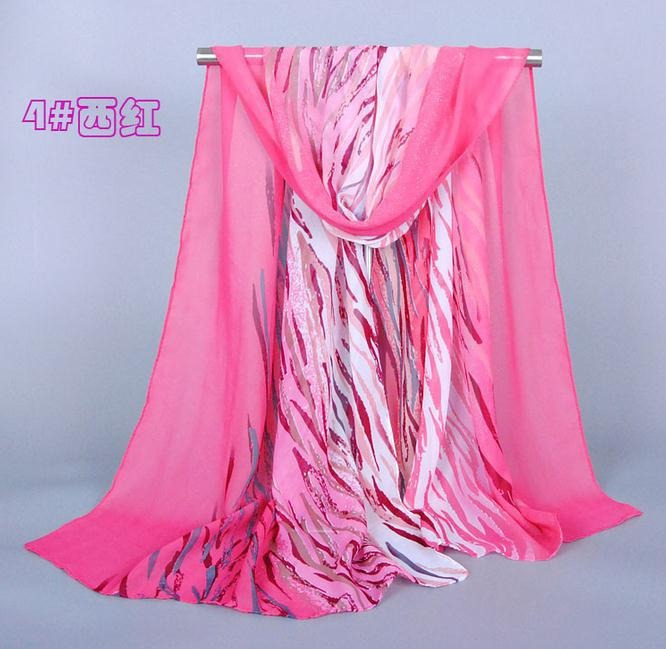 Scarf chiffon pashmina elegance zebra stripe free shipping wholesale shawl fashion trend lady keep warm(China (Mainland))