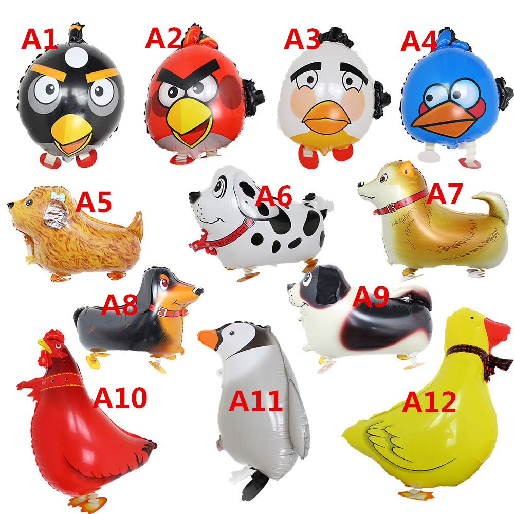 one piece 60cm Inflatable Animal toys Pet Dog balloons bird walking balloon birthday party decoration globos children party toys(China (Mainland))