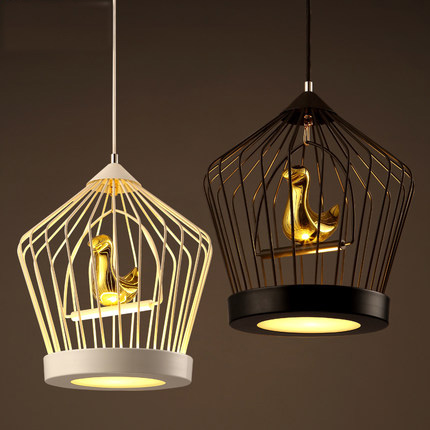 Nordic Style Loft Pendant Lights Creative Modern Lighting Wrought Iron Bird Cage Hanging Lamp Clothing Store Art Deco Lighting(China (Mainland))