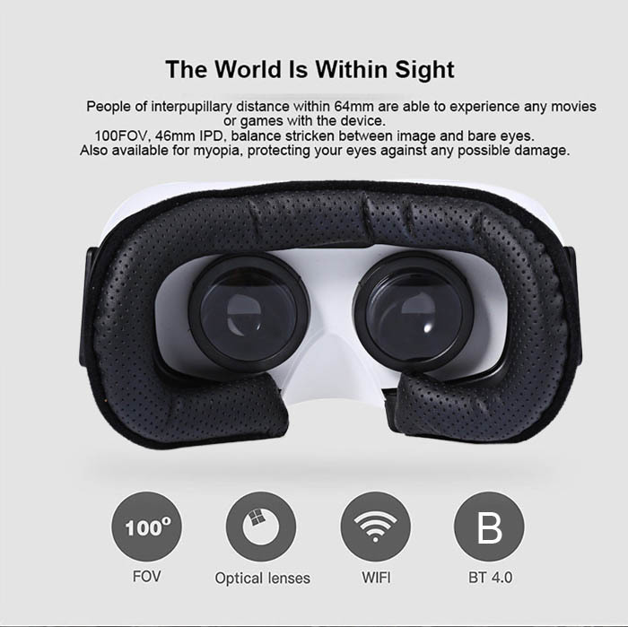 Hot sale! Hot sale VR SKY CX – V3 All-in-one 3D Headset Virtual Reality Glasses 1080P 100 Degrees FOV with Touch Pad TF Card Slo