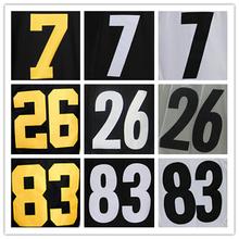 Wholesale Men's #7 Ben Roethlisberger Jersey Black White Cheap #26 Le'Veon Bell #83 Heath Miller Stitched Sports Jerseys(China (Mainland))