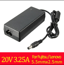 Modern Design Replacement 20V 3.25A 65W LED AC Adapter Laptop Charger Power Supply Universal 5.5X2.5mm For Fujitsu For Lenovo(China (Mainland))