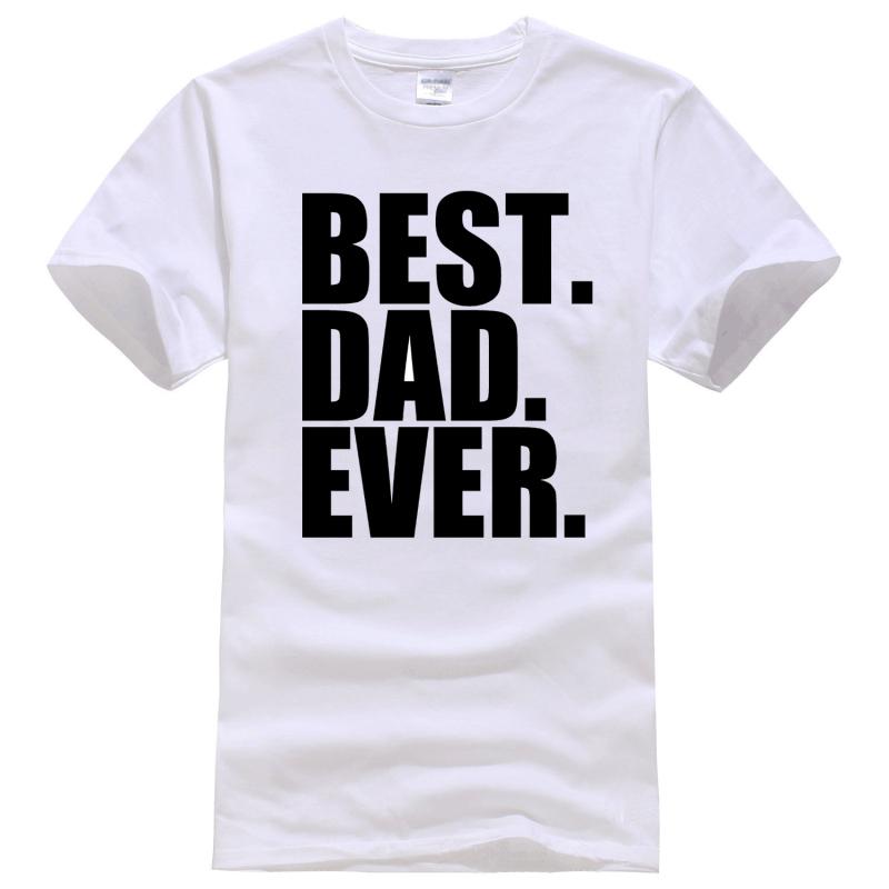 Fathers Day Gift Best Dad Ever Tee Shirt Unisex fashion women men short sleeve funny shirt 6 size(China (Mainland))