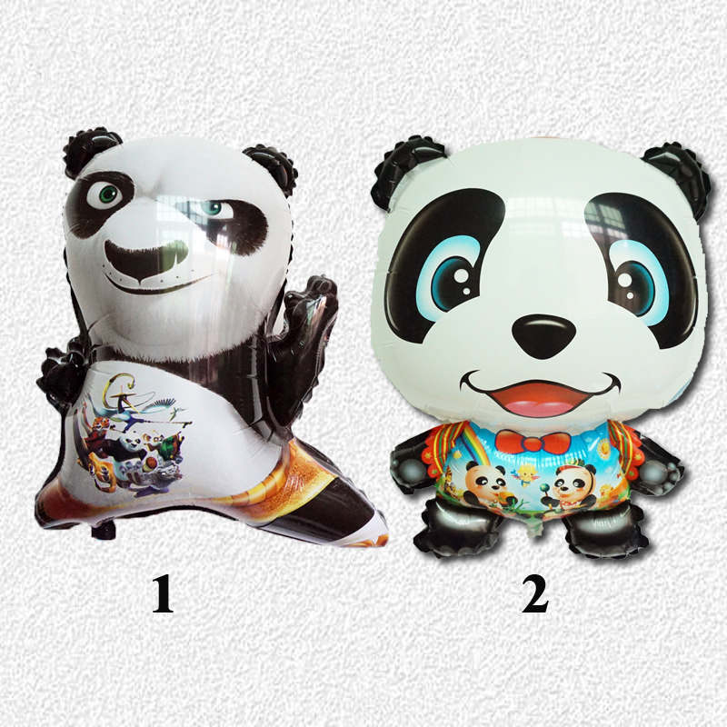 1pc panda balloons cartoon style foil material movie kung fu danda 3 style and Q style inflate helium balloons for child toys(China (Mainland))