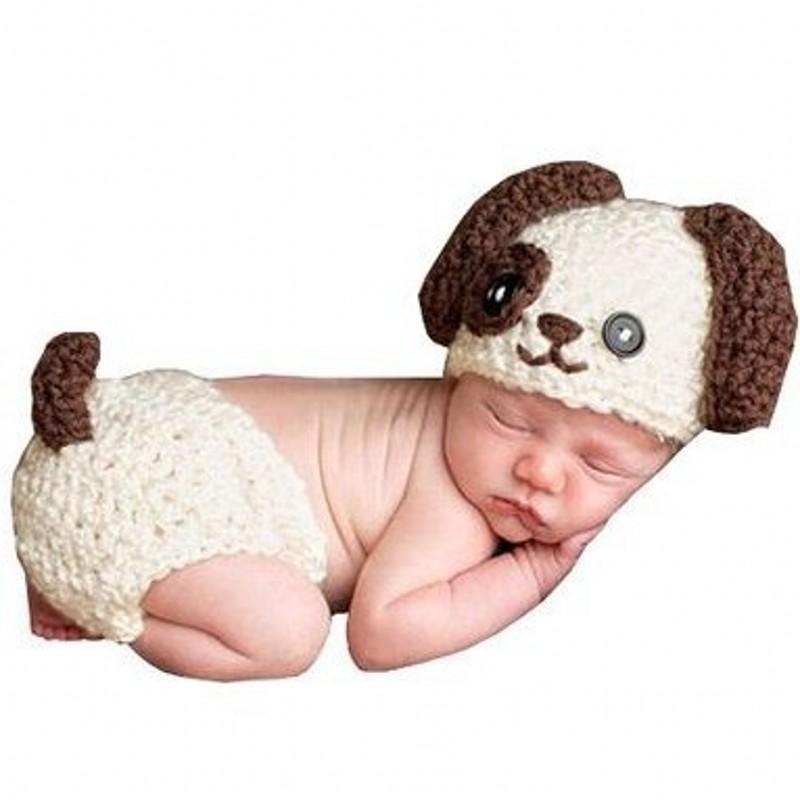 Cute Handmade Knitting Soft Hat Pants Set Baby Clothing Accessories Newborn Baby Photography Props(China (Mainland))