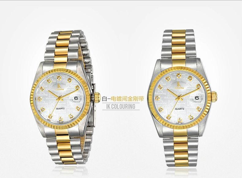 Ik для кварцевые часы 50 м водонепроницаемые мужские часы мужской календарь часы часы 304 из нержавеющей стали
