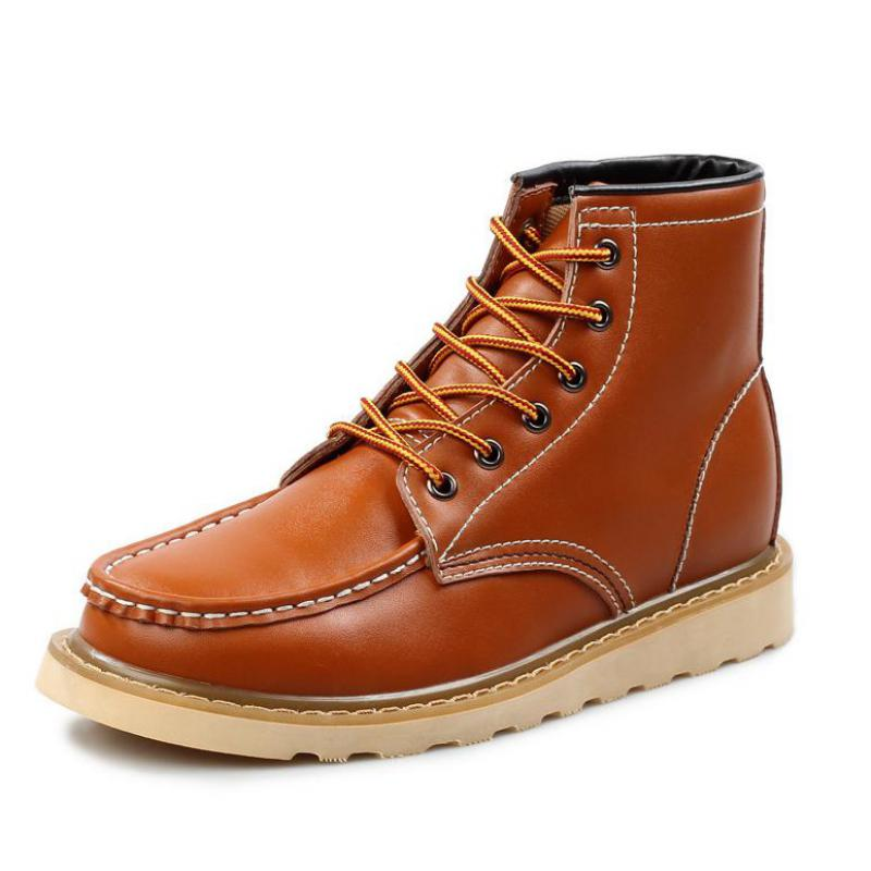 Handmade Genuine Leather Boots For Men Comfortable Ankle Boots Mens Winter Shoes Fashion Casual Men Martin Boots Zapatos Hombre