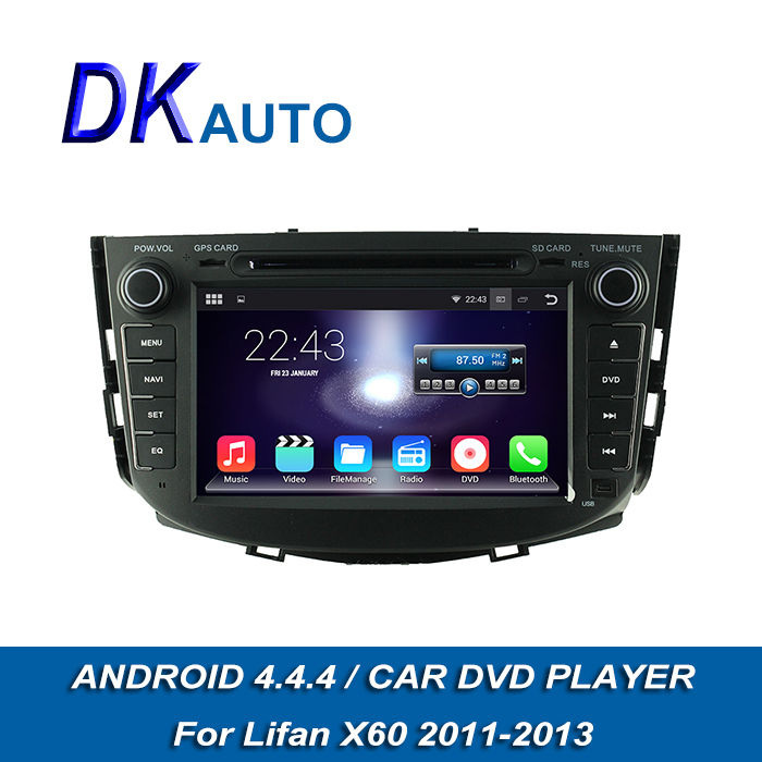 Car Radio For Lifan X60 2011-2012 100% New Android 4.4.4 2 Din 7 Inch 1G GPS Navigation OBD2 Wifi Music USB Video Bluetooth DVBT(China (Mainland))