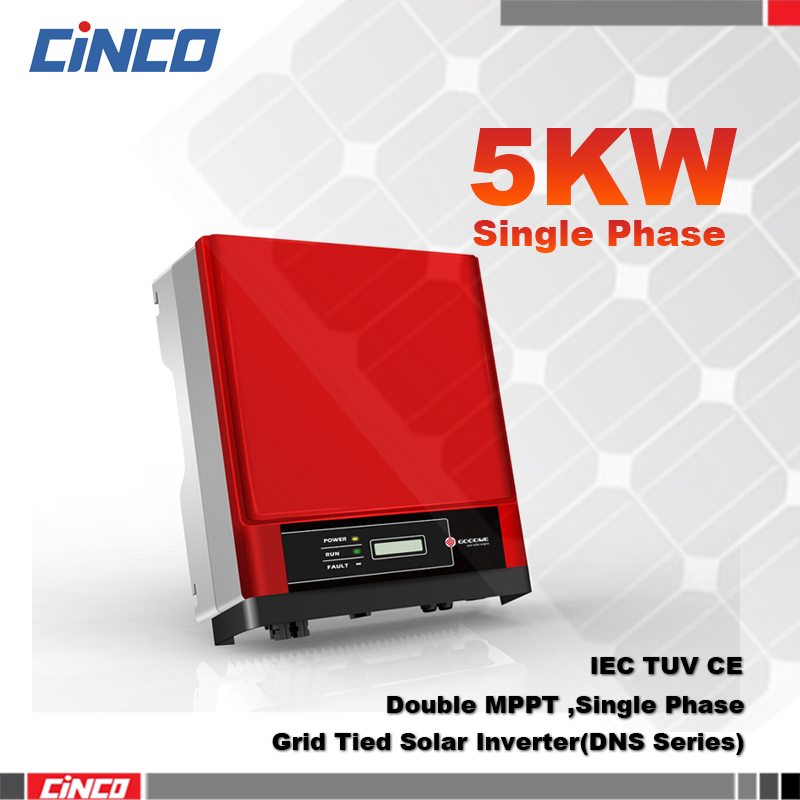 GW5000D-NS On grid solar inverter 5kw, Double MPPT single phase gird tied power inverter connect 250w 255w 300w 310w solar panel(China (Mainland))