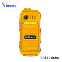 Original GRSED E6800 6800mAh Dual SIM Card Russian  Arabic Spanish Super-long standby bank Rugged shockproof mobile phone P295