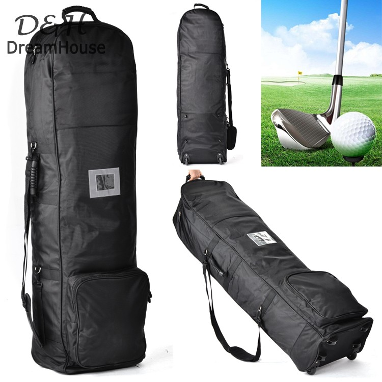 New Outdoor Club Golf Bag Travel Cover Foldable Portable Golf Cart Bag With Wheels(China (Mainland))