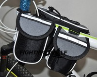 Outdoor Riding Bike Bag Mountain Bike Bicycle Tube Bag Double Sides Bag Bicycle Shoulder Bag Lightweight Easy to Fix on Bike