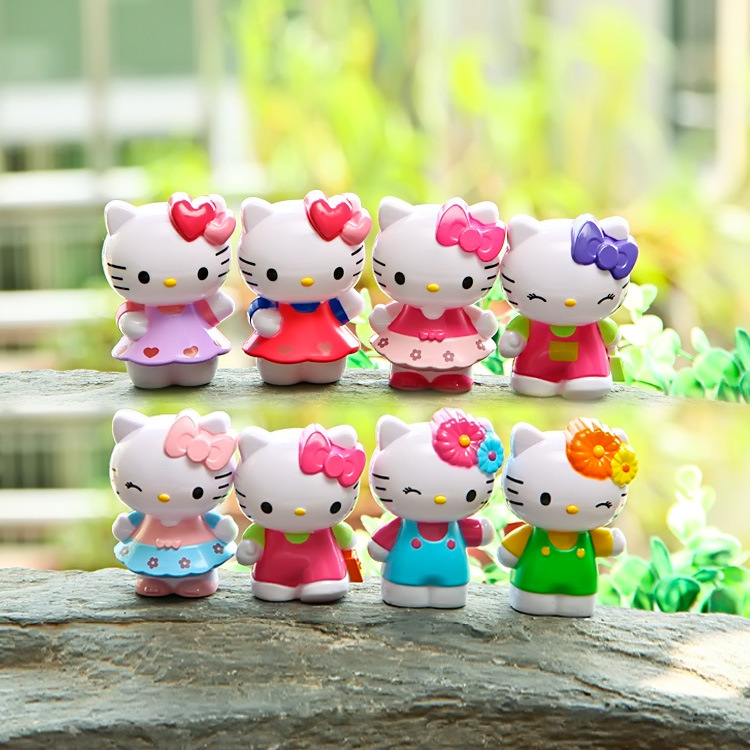 8Pcs Lovely Classic Limited Edition Hello Kitty Toy Figure Collection(China (Mainland))