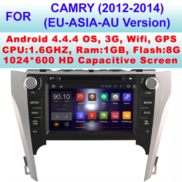 Car Radio android For Toyota Camry Car DVD (2012-2014) (Europe & Asia & Australia Version) With Android 4.4.4 ,Support WiFi 3G,(China (Mainland))