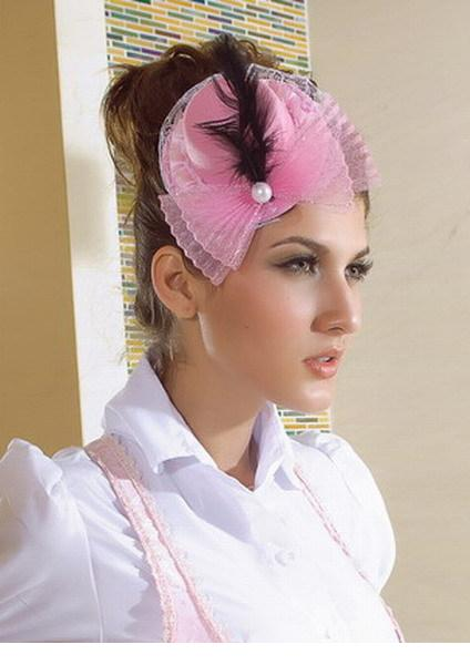 2015 Special Offer Floral Adult Women Headband Hair Band Baby Hat Top With Pearls And Feathers Lc70332 Cheap Price Free ship(China (Mainland))