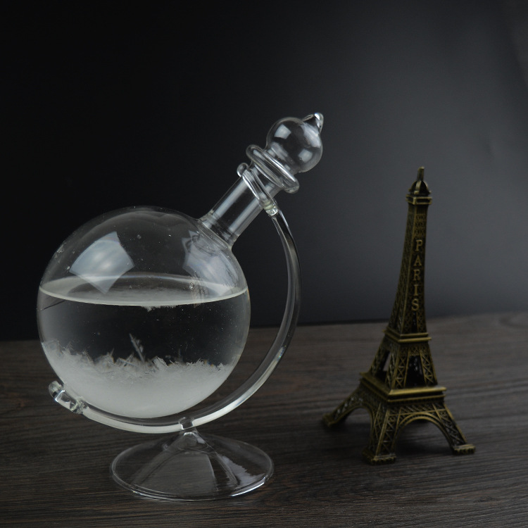 1PC New Global Shaped Storm Glass Barometer Weather Barometer for Home Decoration Gift glass craft JY 1192(China (Mainland))