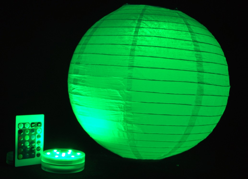 3aaa battery operated remote controlled led paper lantern. Black Bedroom Furniture Sets. Home Design Ideas