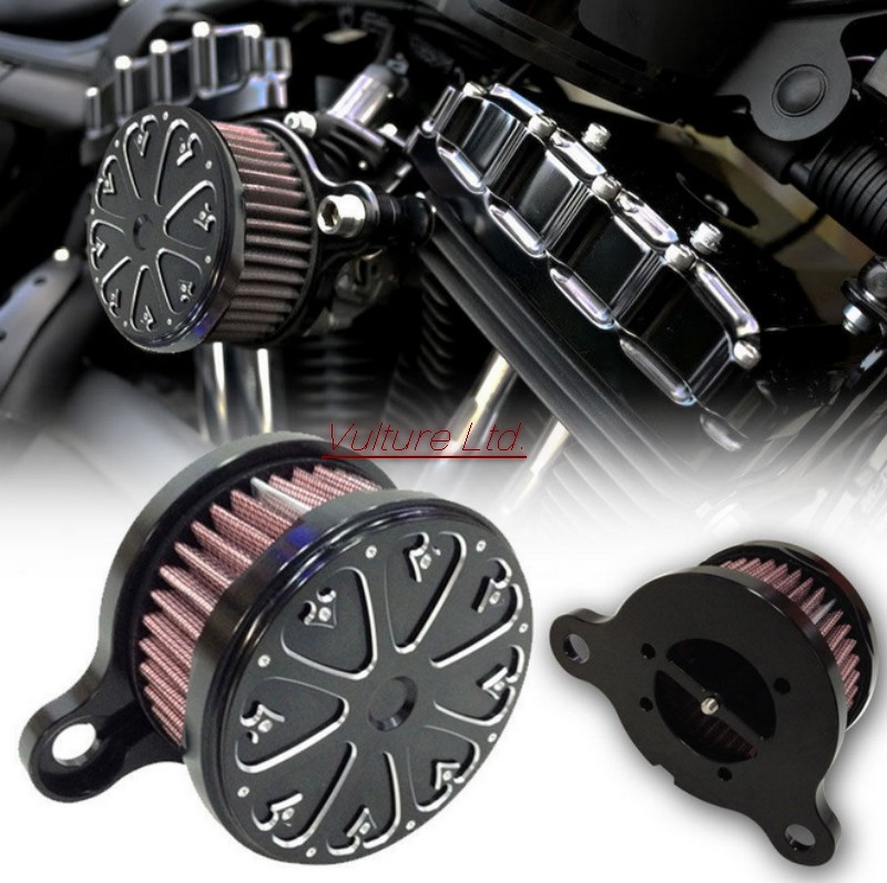 Фотография Air Cleaner Intake Filter System  2004-2014 for Harley Sportster XL 883 1200