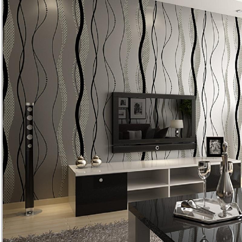 2015 hei er verkauf welle streifen nicht gewebtes tapeten schlafzimmer modernen minimalistischen. Black Bedroom Furniture Sets. Home Design Ideas
