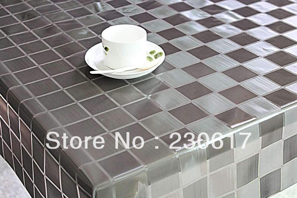 Nappe transparente pour table en verre - Nappe plastique transparente pour table ...