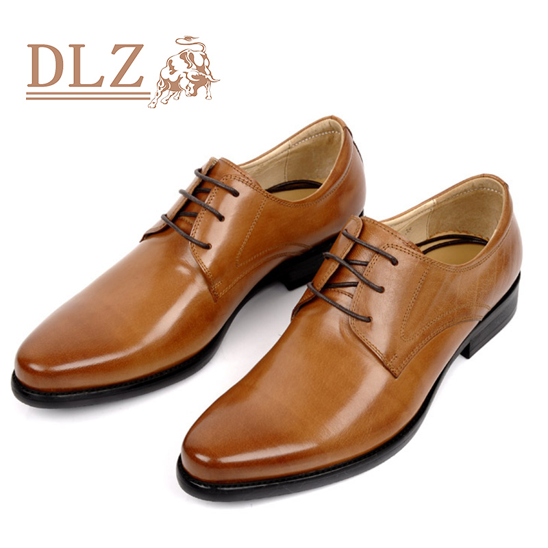 NEW 2016 Italian Style luxury flats men shoes genuine leather pointed toe men dress shoes business men brand oxfords size 37-44(China (Mainland))