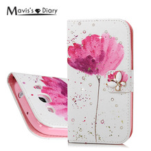 Buy MAVISSDIARY Leather Case Samsung galaxy S3 Luxury Bling Crystal Diamond Wallet Case Flip Cover Samsung S3 i9300 for $3.53 in AliExpress store