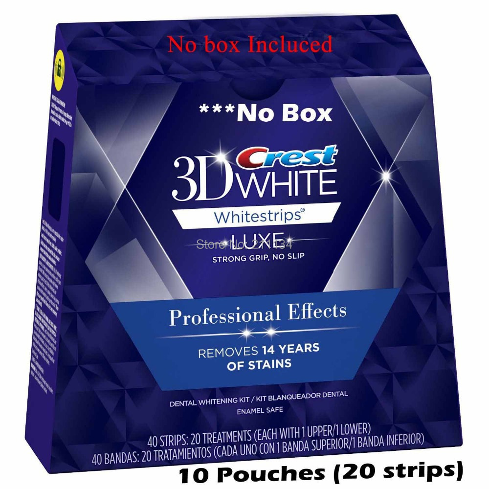20 whitestrips / 10 pouches Crest 3D Professional Effects Whitestrips(China (Mainland))