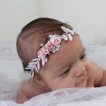 Buy Newborn Elastic Flower Crown Headwear Hair Accessories Girls Headband Cute Kids Hair bands Newborn Floral Headband for $1.41 in AliExpress store