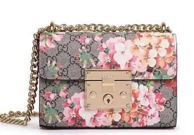 Высокого класса люкс плед цветок печати hasp замок цепи мешок, новые модели моды подиум Плеча сумку, женщины летние сумки