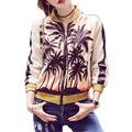 2016 New Autumn Bomber Jackt Casual Printing Long Sleeved Short Women Basic Coats Slim Baseball Uniform