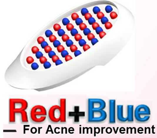 6 colors head (red&blue light link) LED light therapy PDT for acne wrinkle anti-ageing whitening scar home use device beauty(China (Mainland))