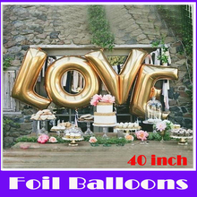 """1 pz super grande 40 """"lettere a-z per scegliere 90 cm foglio di alluminio palloncino per la cerimonia nuziale festival di san valentino decorazione di alimentazione(China (Mainland))"""