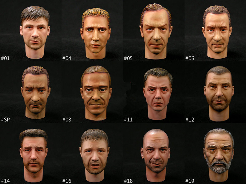 Promotion 1/6 scales action figure head sculpt military soldier model toy accessory fot HT DID DAM TC 1/6 body No Neck connector(China (Mainland))