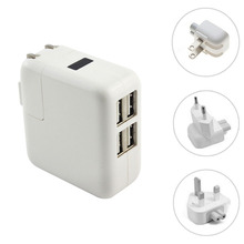 US EU UK plug 4 Ports USB charger Mains Wall Charger for iPad 2 3 4 for iPad mini ,for iPhone 6 4G/S 5 for samsung s5 note 3/4(China (Mainland))