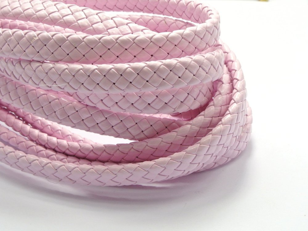 15M Pink Flat Braided Bolo Synthetic Leather Cord 10X4mm craft decorative rope pathwork accessories bead roll hand tablet DIY(China (Mainland))