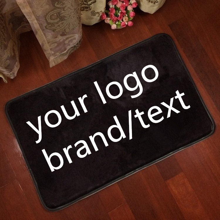 Custom logo brand your text photo Carpet Rug customized Flannel Indoor outdoor Floor Mat Carpet two size home decorate(China (Mainland))