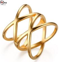 Stainless Steel Cross Ring 18K Gold Plated Ring Bijoux  Width Big Cross  Ring For Women Trendy Fine Jewelry Wholesale Gift(China (Mainland))