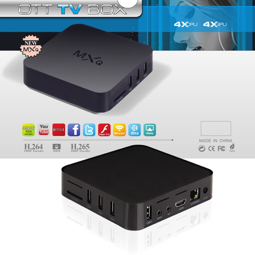 2015 New MXQ TV BOX Amlogic S805 Quad Core IPTV Android 4.4 TV box 1GB/8GB KODI Load WIFI 1080P HD Media Player Free shipping(China (Mainland))