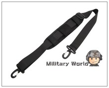 1000D Nylon Military Shoulder Strap Pad Padded Shoulder Strap Computer Bag  Accessories Double Hooks for Pouch Black(China (Mainland))
