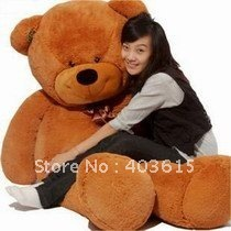EMS Free Shipping Teddy Bear Dark Brown Giant Plush Toy Stuffed Animal 1.8m/ 5.9 Ft