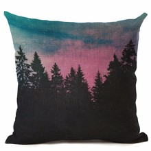 Buy Nordic Style Forest Printed Cushion Cover Decorative Sofa Throw Pillow Car Chair Home Decor Pillow Case almofadas Cojines for $3.91 in AliExpress store