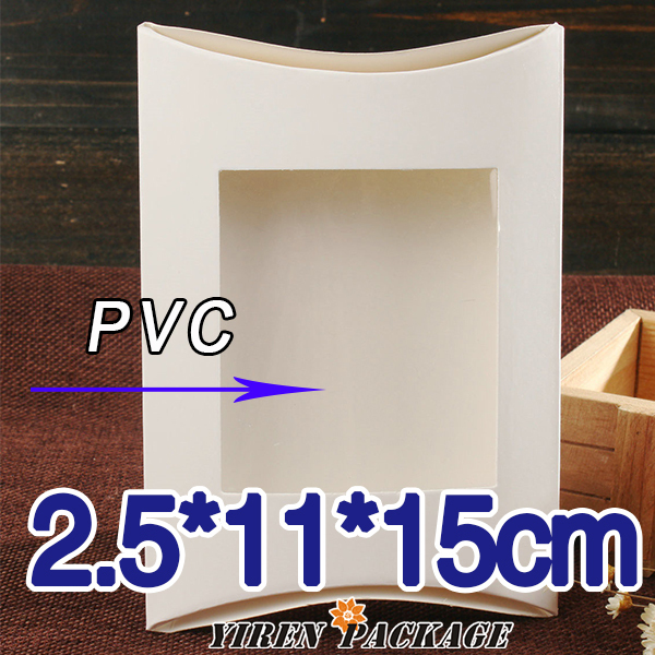 2 5 11 15cm white paper box with window in high quality for 100 cm window box