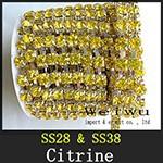 Rhinestonr Chain Citrine xzs010