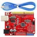 One Set UNO R3 CH340G ATMEGA328P Development Board with USB Cable for Arduino UNO R3 Compatible