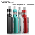 100 Original Vapor Storm Electronic cigarette kit V60 TC 60W Box Mod Temperature Control Hookah Pen