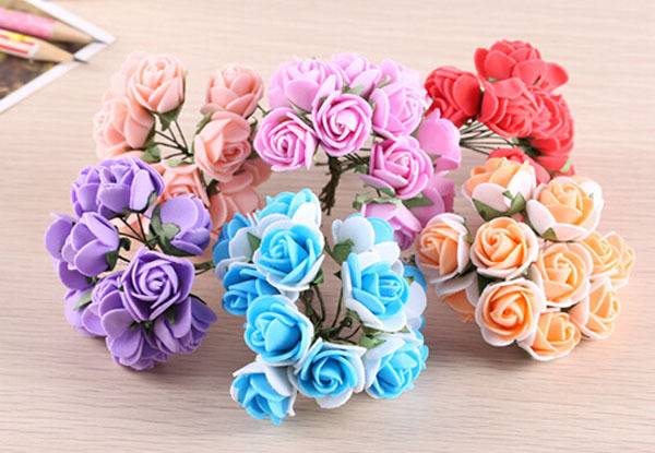 1 Piece of Mini PE Foam Rose Multi Color Ideal for Fairy Garden Dollhouse Adorable Gift Lovely Terrarium Home Garden Decoration(China (Mainland))